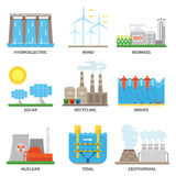 Energy sources vector illustration. Royalty Free Stock Photos