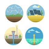 Energy sources vector illustration. Stock Photography