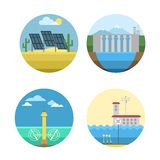 Energy sources vector illustration. Royalty Free Stock Photo