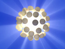 Energy sphere. Glowing energy sphere. CG illustration Stock Photos