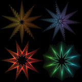 Energy Stars. Set of 3D star images Royalty Free Stock Images