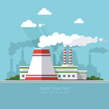 Energy station. The nuclear power plant on the background of the Stock Images