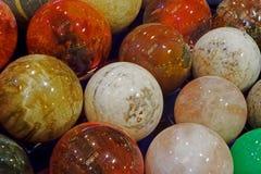 Energy stones polished in round shape royalty free stock photo