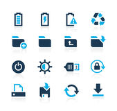Energy and Storage Icons Azure Series Stock Photography