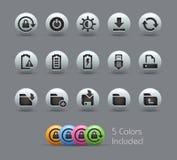 Energy and Storage Icons  Stock Image