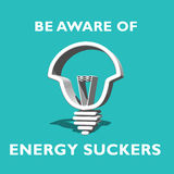 Energy sucker Royalty Free Stock Photo