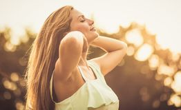 Energy and sun stock photo