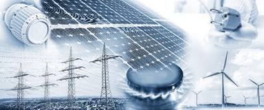 Energy supply with electricity and gas Royalty Free Stock Photography