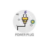 Energy Supply Power Plug Icon Royalty Free Stock Photo