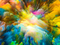 Energy of Surreal Paint Royalty Free Stock Photography