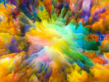 Energy of Surreal Paint Royalty Free Stock Images