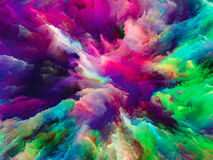 Energy of Surreal Paint Royalty Free Stock Image