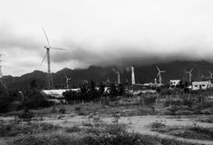 Energy for Tamil Nadu. Picture of windmill farm in Tamil nadu Stock Images