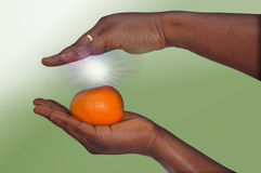 Energy of a tangerine Stock Photo