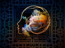 Energy of Thought Patterns Stock Images