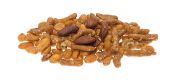 Energy trail mix blend on a white background Royalty Free Stock Image