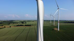 Energy transition: renewable energies from wind power.