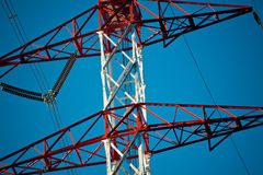 Energy transmission towers Royalty Free Stock Image
