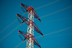 Energy transmission towers Stock Photography
