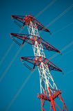 Energy transmission towers Royalty Free Stock Photo