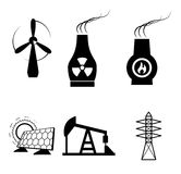 Energy types Royalty Free Stock Image