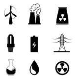 Energy types Royalty Free Stock Photos