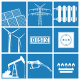 Energy and utility icons Stock Photos