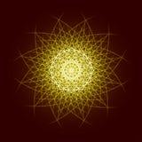 3Energy van de de ster ruimteexplosie van de machts helder uitbarsting het patroon geometrisch abstract licht goud als achtergron Stock Fotografie