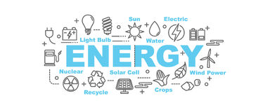 Energy vector banner Royalty Free Stock Images