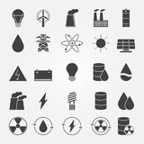 Energy vector industry icon set Royalty Free Stock Image