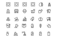 Free Energy Vector Line Icons 2 Royalty Free Stock Photo - 69760295