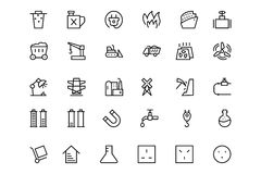 Energy Vector Line Icons 5 Royalty Free Stock Photography