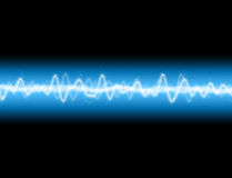 Energy Wave. A sound wave or energy wave  background Royalty Free Stock Images