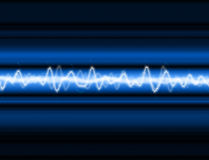 Energy Wave. A sound wave or energy wave  background Stock Photography