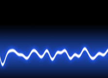 Energy waves Background. Energy single wave - Blue background stock photo