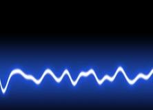 Energy waves Background. Energy single wave - Blue background Stock Photo