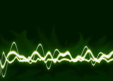 Energy waves Background. Energy waves - Green background stock illustration