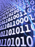 Energy waves and binary code Stock Images