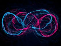 Energy waves. İnfinity symbol form Stock Photography