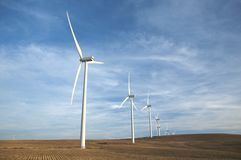 Energy wind mills Stock Images