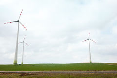 Energy wind turbines Stock Photos
