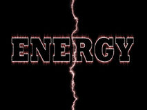 Energy word Royalty Free Stock Image