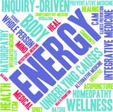 Energy Word Cloud. On a white background Stock Photos