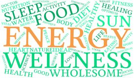 Energy Word Cloud. On a white background Royalty Free Stock Images