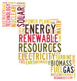 Energy word cloud Stock Photos