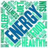 Energy Word Cloud. On a white background Royalty Free Stock Photo