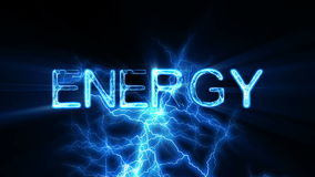 ENERGY Word Text Animation with Electrical Lightning Stock Images