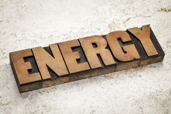 Energy word typography Stock Photo