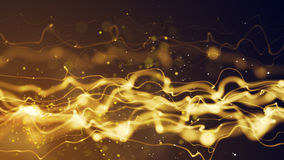 Energy yellow flow abstract background Stock Images