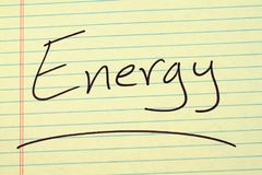 Energy On A Yellow Legal Pad Royalty Free Stock Photography